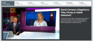 Channel 4 News: Oakeshott on the spot